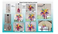 Cheap Price Art Shop Decor Long orange Lamps LED CE UL 100% Hand Blown Glass Chandelier Lighting