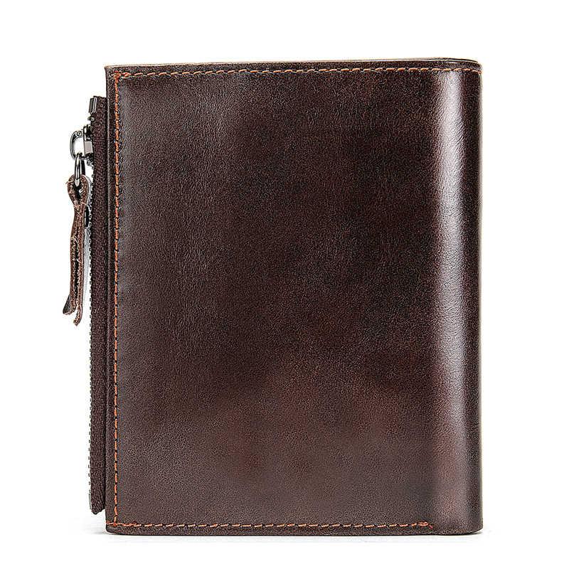 WESTAL hommes portefeuille en cuir homme en cuir véritable portefeuilles pour cartes homme sac à main pour hommes sac d'argent petit/mince portefeuille hommes sac à main 6046