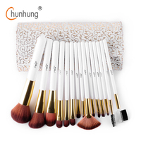 Free Shipping Full Function MSQ Brand Professional 15pcs Top Quality Makeup Brushes Set Cosmetic Tool For