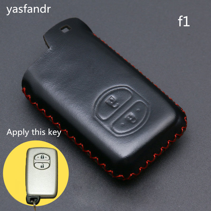 Image 3 - 2 Buttons Car Key Holder Case Cover for TOYOTA Camry Highlander Crown Prado Land Cruiser Hilux Prius car key cover shell-in Key Case for Car from Automobiles & Motorcycles
