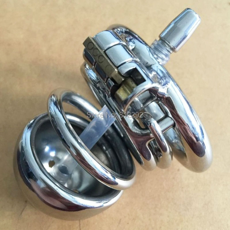 Male Chastity Device with catheter stainless steel Metal catheter urethral Penis Ring chastity belt Sex Toys