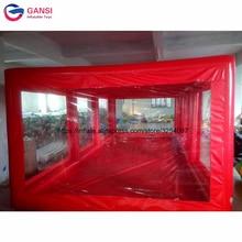 Бесплатная воздушный насос красный Надувной бокс для машины витрина тентовый гараж, надувные капсулы автомобиля для покраски