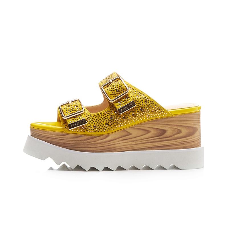 DoraTasia Plus Größe 33 40 Kid Suede Echtem Leder Keile Ferse Frau Schuhe Plattform Frauen Schuhe Sommer Sandalen-in Hohe Absätze aus Schuhe bei  Gruppe 2