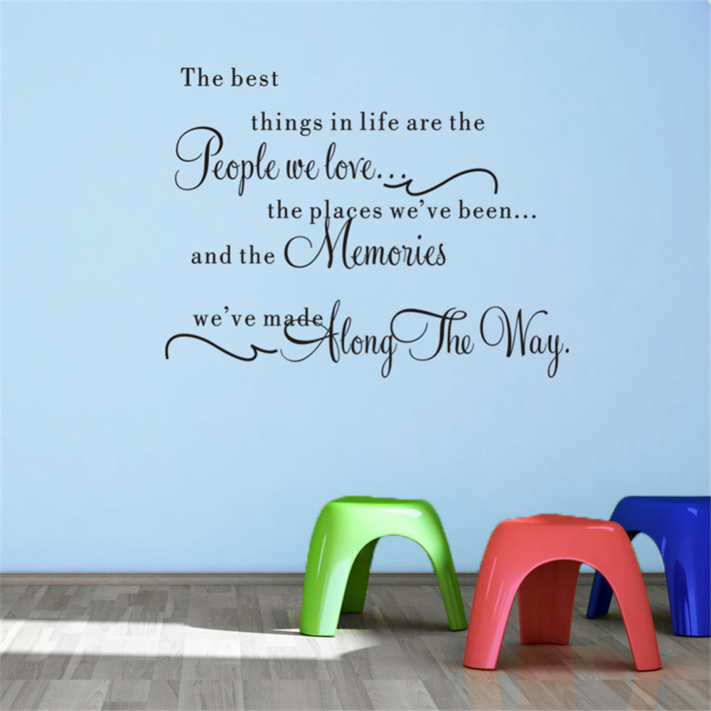 Life Wall Quotes The Best Things In Life Vinyl Wall Decals Love Memories Wall