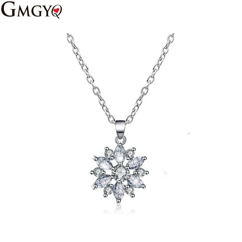 GMGYQ European And American Fashion High-end Olive Zircon Ladies Generous Temperament Necklace Small Jewelry Wholesale