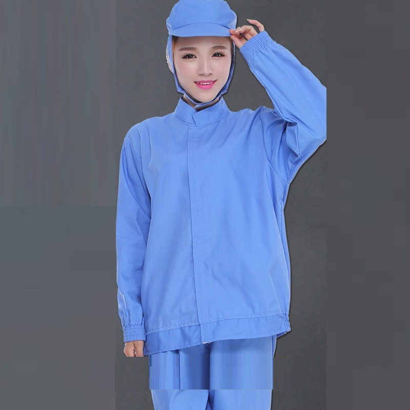 (10 Set)Food Factory Workshop Protective Clothing Food Overalls Suit Men And Women Blue Clean Clothes Sterile Health Service