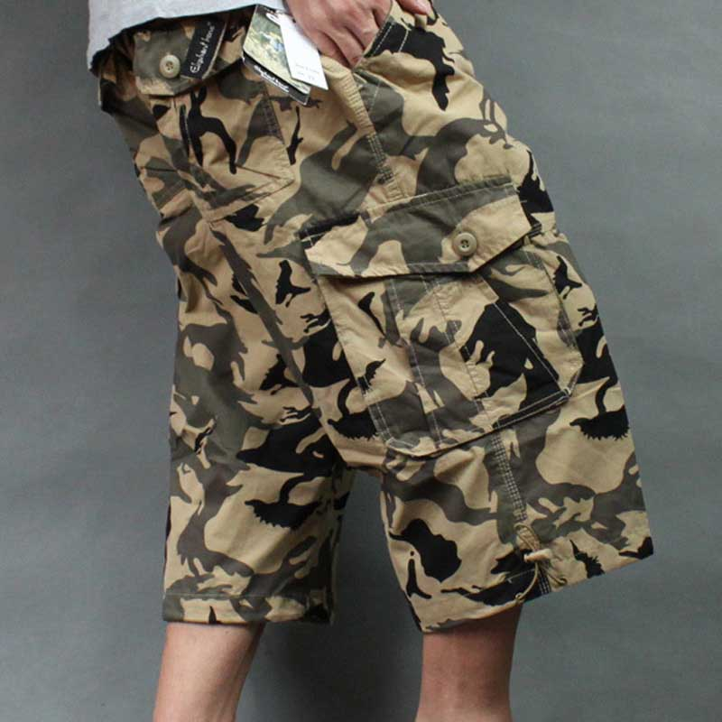 Big Men Camouflage Shorts Plus Size Men Summer Beach Shorts Casual Cargo Shorts Street Wear Clothing Men Summer image