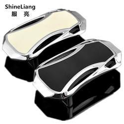 Shineliang Булавки гладкая пряжки ремня для мужчины сплав Материал серебристый, Черный Белый Fit ширина 3.3 см Дизайнер Высокое качество модные