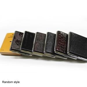 Image 5 - Faux Leather Metal Frame Black Cigarette Accessories Storage Case Cigarette Box Container 1 Pcs Household Merchandises
