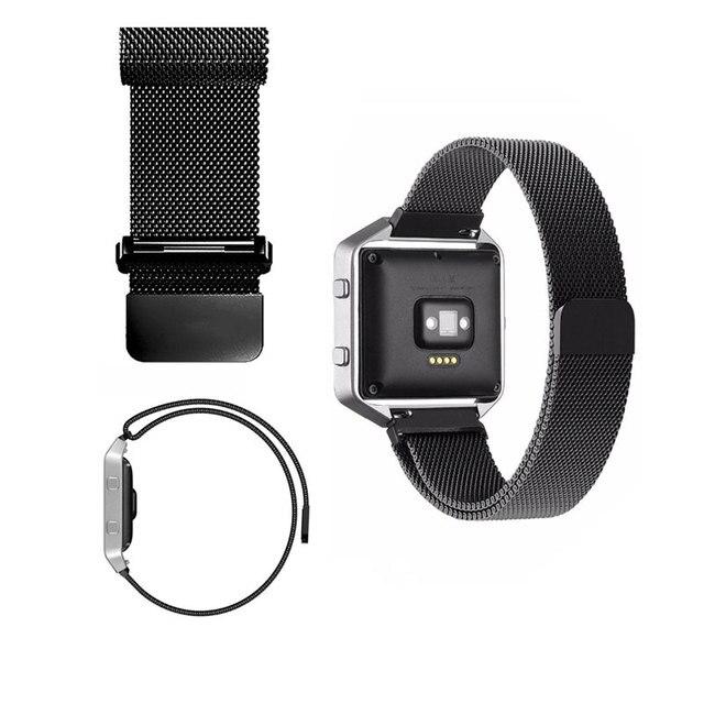 2016 Nuevo Lujo Reloj de Pulsera Banda de Acero Inoxidable Reloj Correa 23 MM Correa de reloj Pulsera de Enlace para Fitbit Blaze con enclavamiento cierre