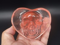 277g Rouge Fusion quartz Sculpté crâne Q260