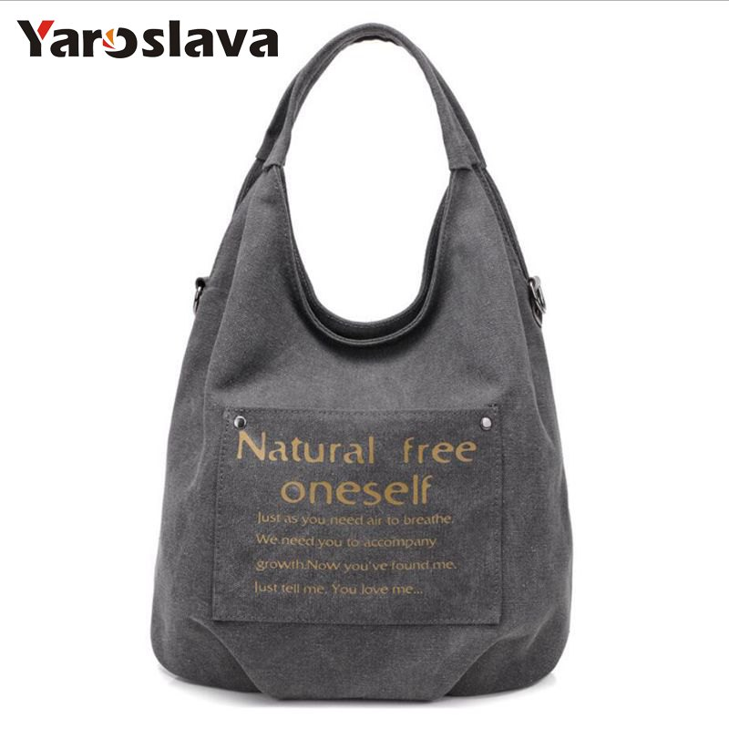 High Quality Canvas Women Bag Handbag Casual Large Capacity Hobos Female Totes Bolsas Vintage Solid Woman Shoulder Bag LL128 2017 fashion canvas women handbag hot sell female tote bolsas trapeze ruched solid shoulder bag casual large capacity tassel bag