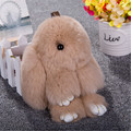 Super Lindo Conejo de Conejito Esponjoso Suave Felpa Colgante Juguetes Muñecos de Conejo Bolsa Llavero de Coches Decoración Del Regalo De Navidad de Alta Calidad