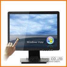4:3 19 inch Flat Screen Touch Screen Monitor, Touchscreen Computer LCD Monitor, Monitor touch panel for Restaurant Equipment