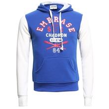 Men 2015 Spring Hoodies Fleece Sweatshirt  England Style Standard Euro-Size 2XL Blue Red hoody Print Letter F1313
