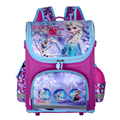 Hot ! New Arrive snow queen School Bags Orthopedic Children school backpacks bag cartoon cars school bag for teenagers and girls