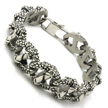 Newest Design Mens Boys 316L Stainless Steel Cool Eagle Dragon Claw Punk Gothic Style Bracelet New Hot