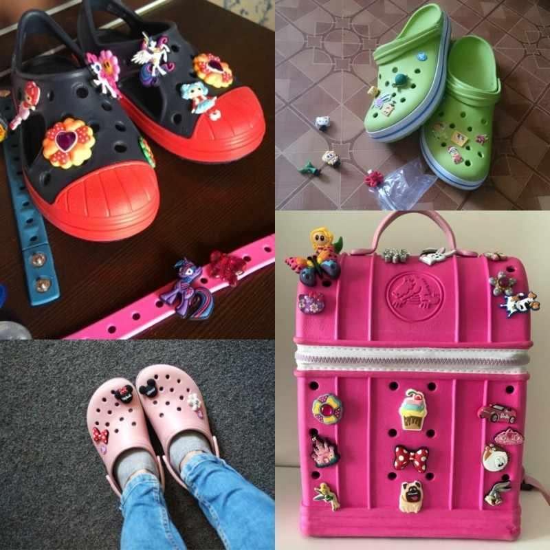 1pc MU Quente Dos Desenhos Animados Sapato PVC acessórios Encantos Da Sapata Sapato decoração Sapato Fivelas Acessórios Fit Pulseira/Croc JIBZ