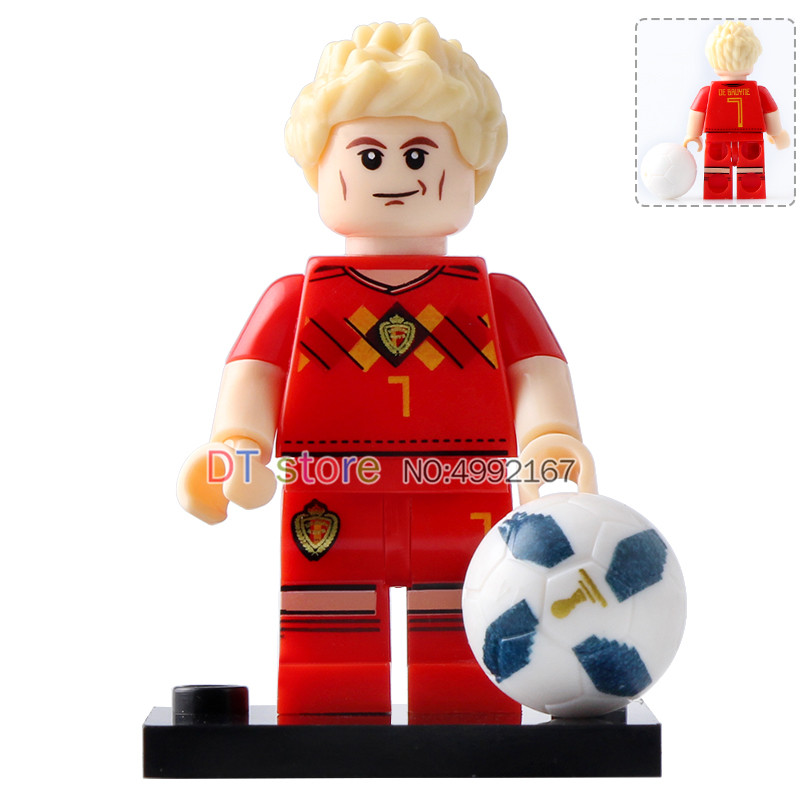 8pcs Football Pogba Ronaldo Messi Beckham Neymar Modric Cavani Bruyne Legoing