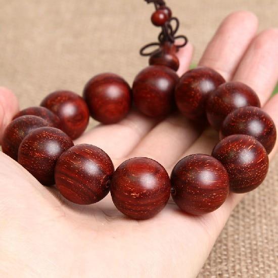 18MM Indian Redsandalwood Man Bracelet Redsandalwood Beaded Bracelet Jewelry Tibetan Mala Bracelet Redsandalwood Mala Bracelet