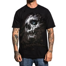 Sullen Men Holmess 해골 T 셔츠 Black Tattooed Tee T 셔츠 의류 의류 Pride Of The Creature T Shirts(China)