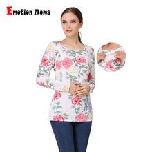 Emotion Moms New Long Sleeve Nursing Shirt Maternity Clothes Tops Breastfeeding Clothing for Pregnant Women shirts