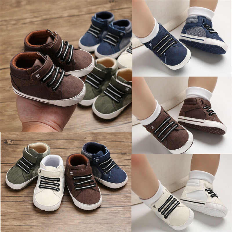PUDCOCO תינוק רך Sole עריסה נעליים יומיומיות תינוק ילד ילדה פעוט Sneaker אנטי החלקה 0-12 חודשים