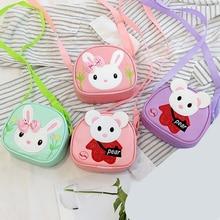 Детские повседневные маленькие милые сумки на плечо с объемным рисунком из мультфильма для девочек; простая мини-сумка через плечо из искусственной кожи на молнии
