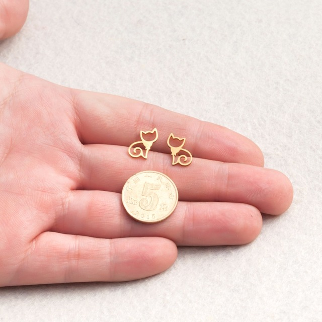 Golden and Silver Stainless Steel Minimalist Earring 5