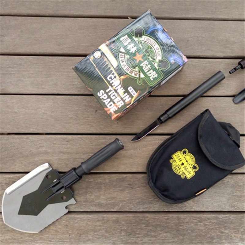 ФОТО 408c multi-function sappers shovel life-saving shovel fishing tackle portable outdoor hiking climbing spade  quality goods