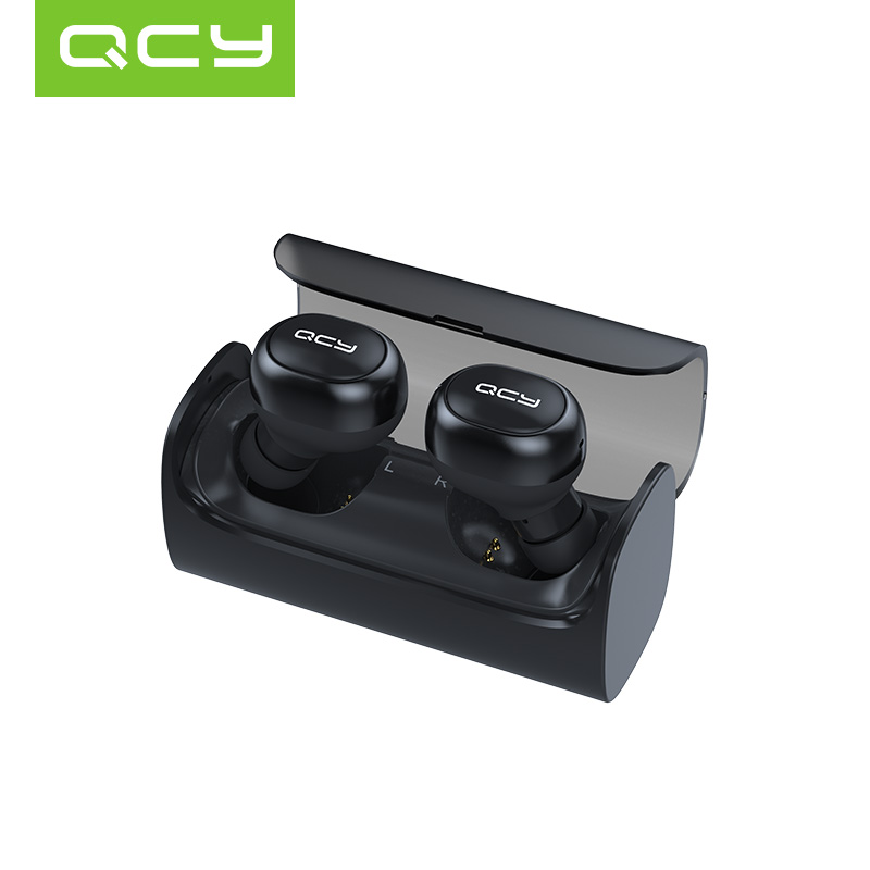 лучшая цена 2018 QCY Q29 Pro Mini Bluetooth Earphones with Mic Wireless Sports Headphones Noise Cancelling Headset and charging box