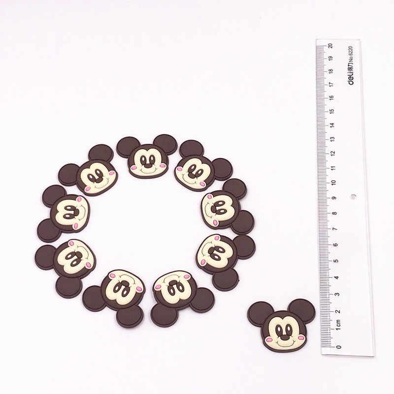 10 Pcs Lucu Kartun Mickey Minnie Bebek Daisy Beruang PVC Datar Kembali Dekorasi DIY Aksesoris Rambut Hiasan Pesta Anak Hadiah