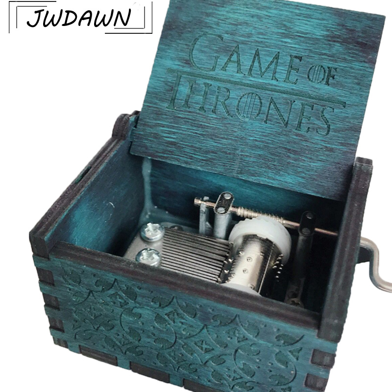 Harry Potter Music Box Action Figures Carved Wooden Box 2018 Hot Antique Crank Theme Game of Thrones / Star Wars Figures Box