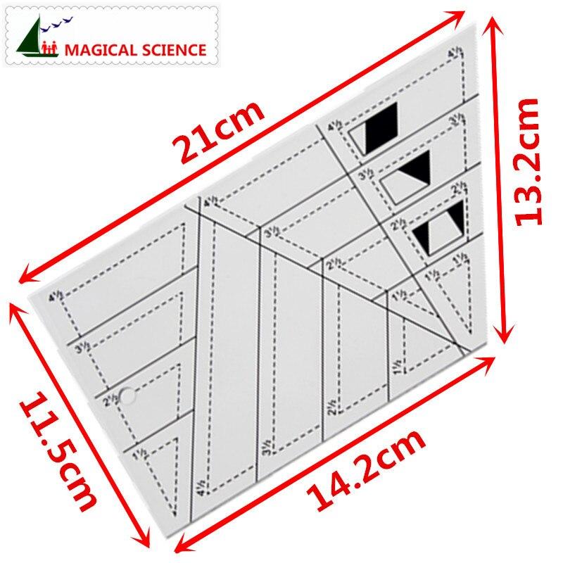 Règle Triangle pour Patchwork 16,5 cm x16,5 cm
