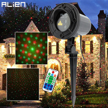 ALIEN Remote Red Green Star Snowflake Outdoor Laser Light Show Projector Waterproof Garden Holiday Christmas Tree Show Lighting