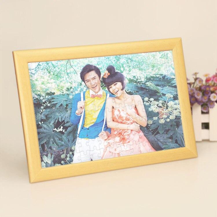 Rompecabezas personalizado Marco de Fotos Regalos para Niños Mujeres Foto Madera de Memoria Personalizada Marco de la Foto De La Graduación para el ...