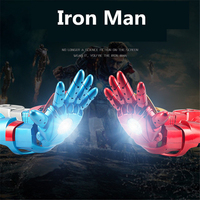 Anime Avengers Endgame Superhero Iron Man Cosplay Arm Thanos Avengers Tony Stark Kids Child LED Toy Water Bomb Gun Gloves