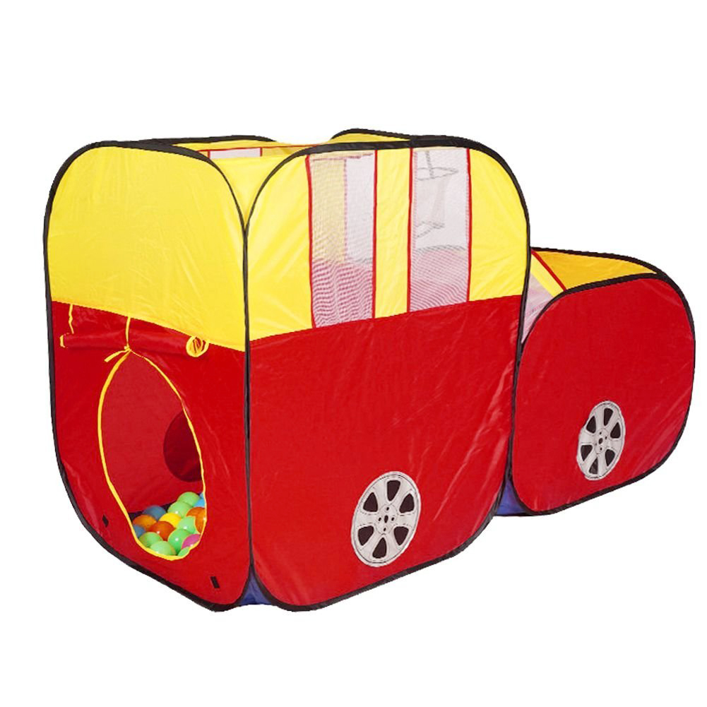 tent house play hut children ocean balls pit pool red sports car kids fold by pop up design