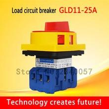 Выключатель нагрузки GLD11-25A/32A/40A/63A/80A/100A главный переключатель моторизованный вращающийся замок включения выключения питания