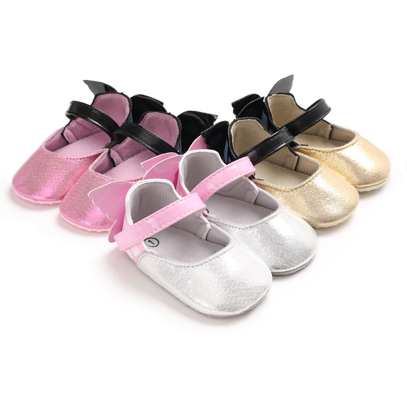 2019 Spring And Autumn New Newborn Kid Baby Girl Princess Shoes With Butterfly Wings Crib Shoes First Walkers
