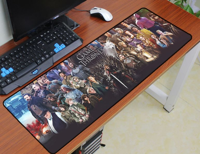 Game of Thrones mouse pad 900x300mm pad to mouse notbook computer best mousepad gaming padmouse gamer to keyboard mouse mat rubber mouse pad mat black