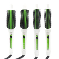 Professional Electric Hair Ceramic Rotating Brush With 4 Sizes 2 In 1 Straight And Curling Hot