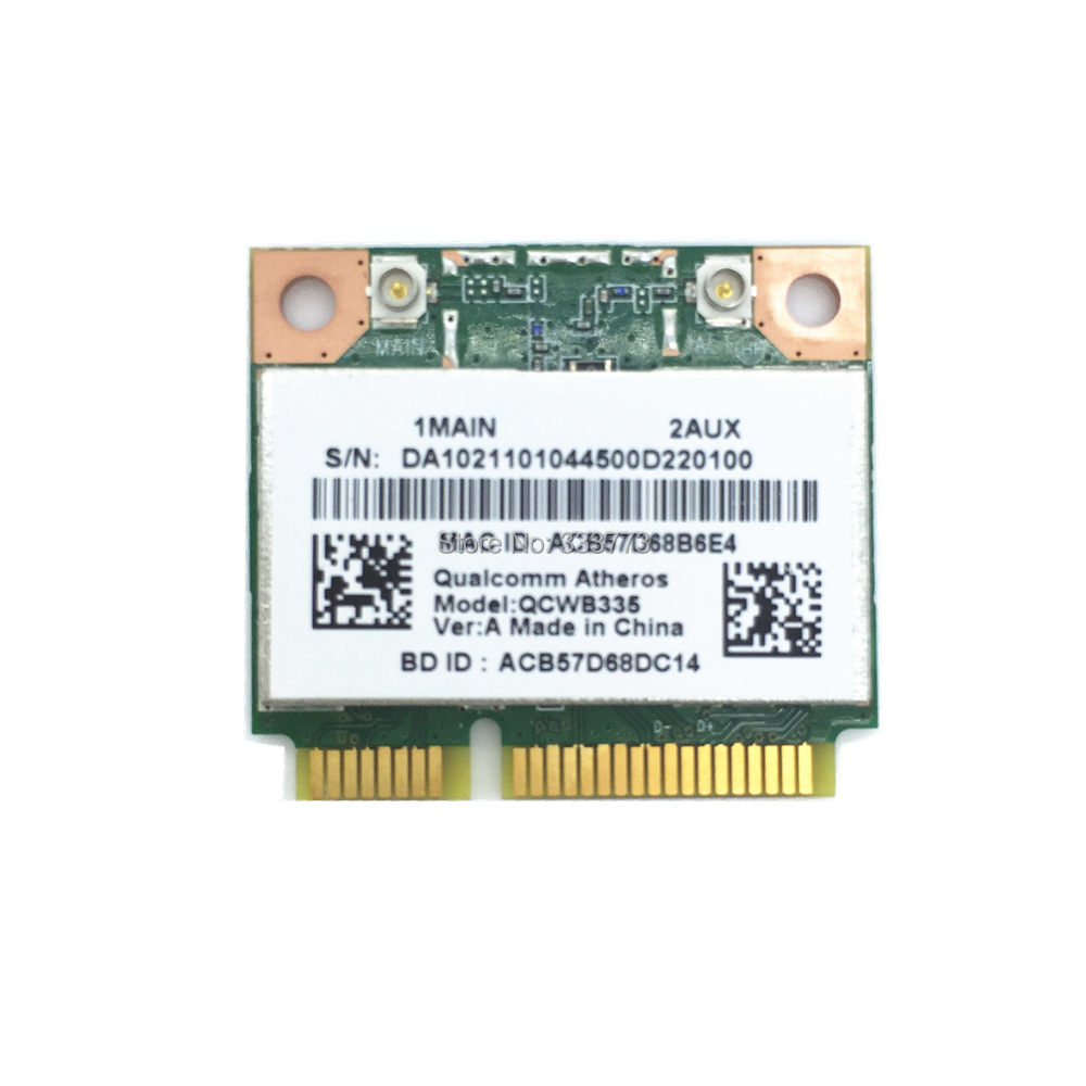 For Atheros AR9565 QCWB335 802.11N 150Mbps Half Mini PCIe WIFI Wireless BT Bluetooth 4.0 Card