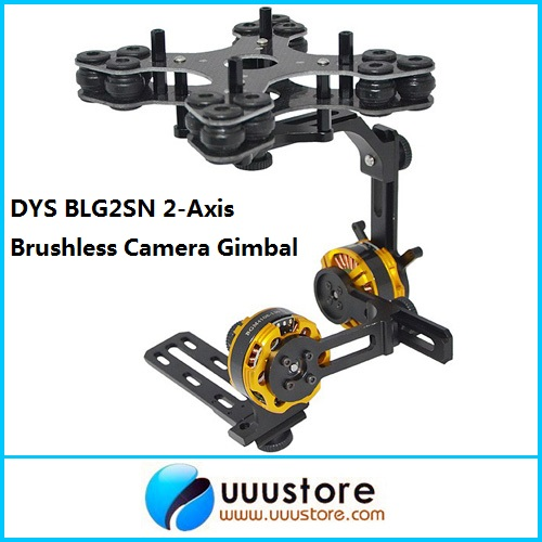 DYS BLG2SN 2-Axis Glass Fiber Brushless Camera Gimbal Mount w/2 BGM4108-130 Motors RTF for FPV Aerial Photography dys 3 axis gimbal mount kit 3pcs 4108 brushless motor 8bit alexmos controller for sony nex ildc camera photography fpv