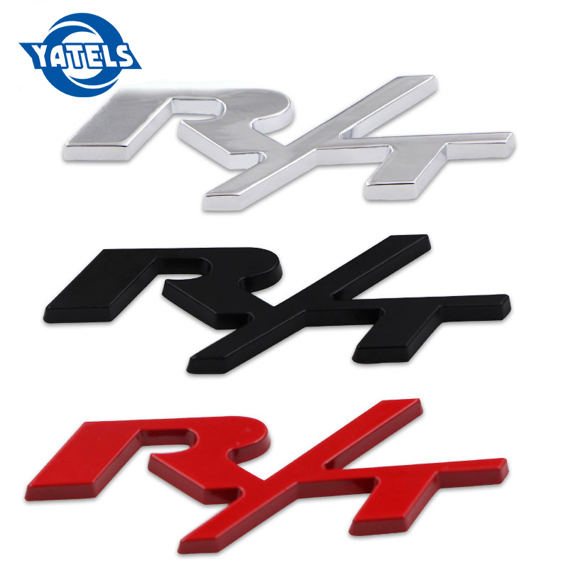 1pcs Car-styling Metal 3D R/T RT Logo Emblem Badge Sticker with Screw Gasket Kit Fit for Chrysler Dodge Charger Car Accessories