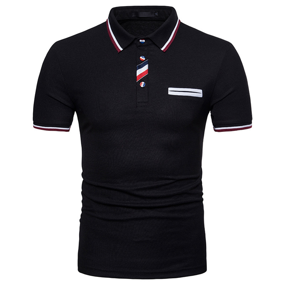 FDWERYNH 2018 Summer New Pattern Man Short Sleeve Leisure Stripe Lapel Unlined Upper Garment   Polo   Shirt
