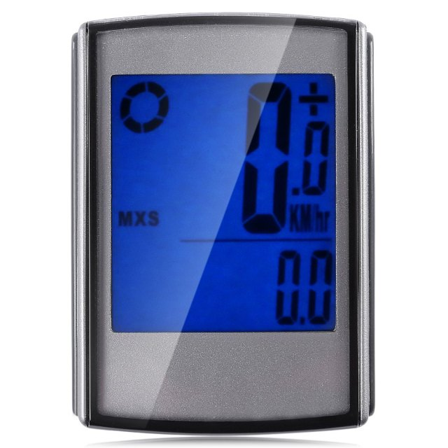Water Resistant Wireless Cycle Computer Speedometer with LCD Backlight Wireless Stopwatch Bike Computers