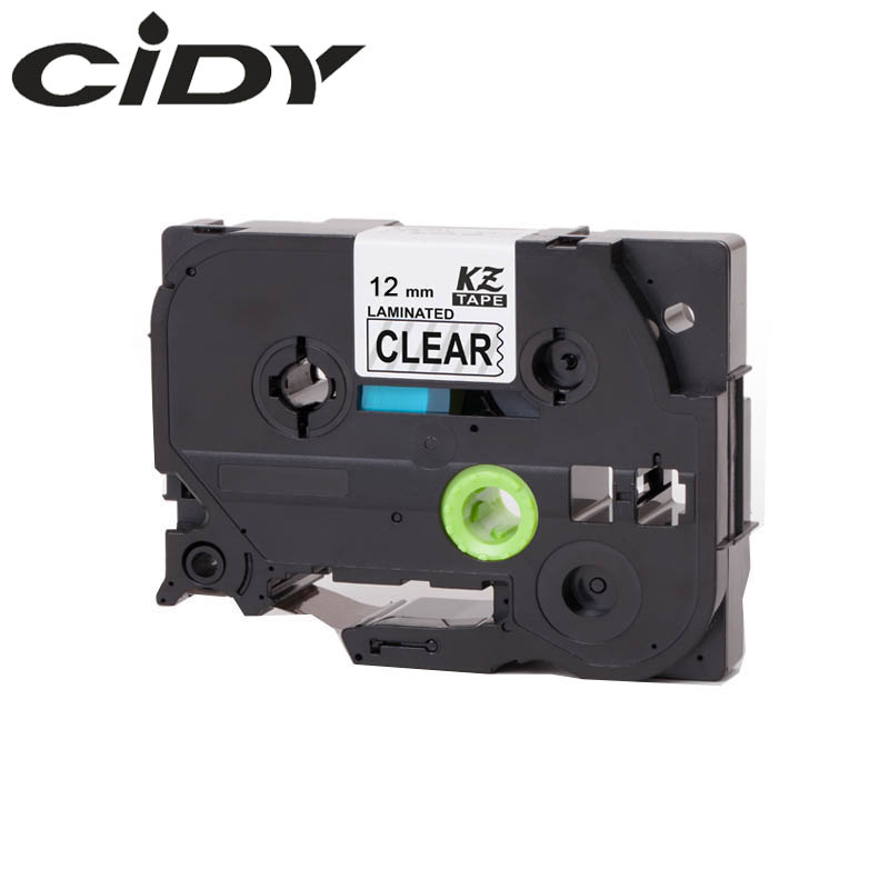CIDY TZ131 TZ 131 TZe131 TZe 131 Laminated Adhesive tz-131 tze-131 Labels Tape P Touch black on clear Compatible For Brother