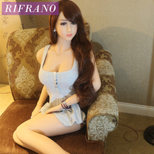 Rifrano 165cm Real Silicone Sex Dolls Lifelike Big Breasts Japanese Anime Love Doll for Men Masturbation Free Shipping