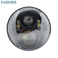 Black 7 Inch Motorcycle Round Led Headlight Lamp For Honda Moto CB400 CB500 CB1300 Hornet 250